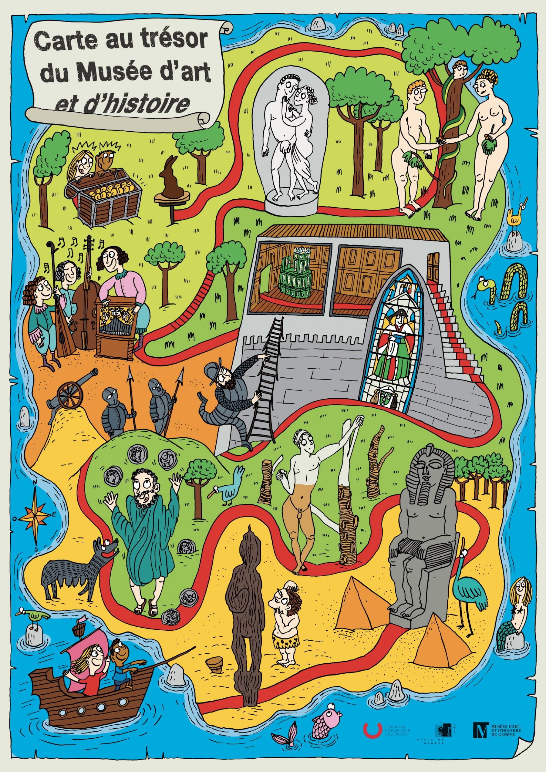 Carte Au Tresor Histoire.Carte Au Tresor Du Musee D Art Et D Histoire Adrienne Barman